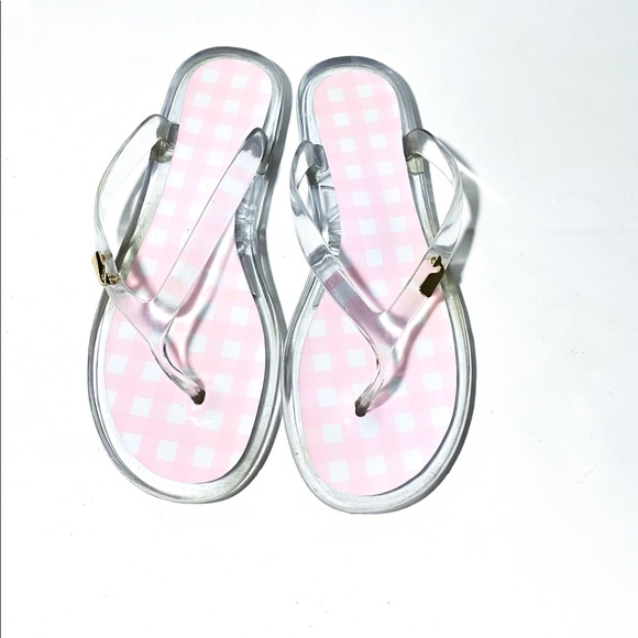 Vineyard Vines Shoes - Vineyard Vines Pink Checkered Jelly Flip Flops